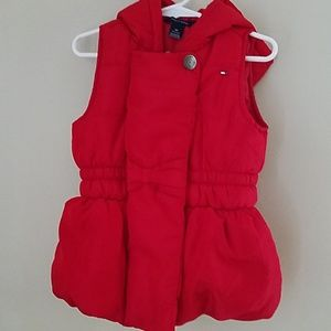 Girls Red Hooded Vest